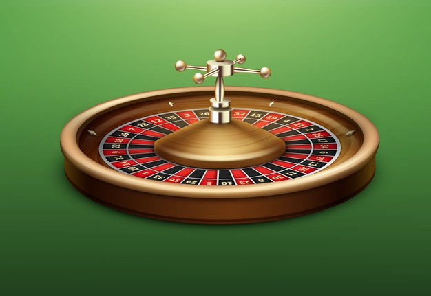 vector-realistic-casino-roulette-wheel-side-view-isolated-green-poker-table